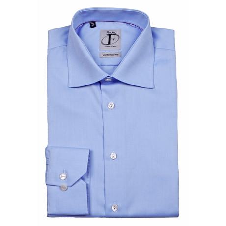 Contemporary Oxford Button-Up Shirt // Blue