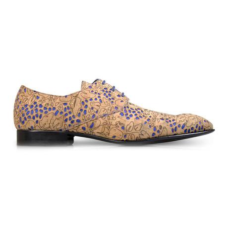 Cork Ocean Dress Shoes // Natural Brown + Cobalt Blue (Euro: 39)