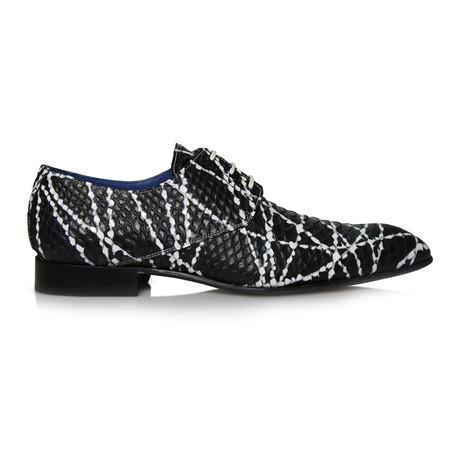 Panama Lines Dress Shoes // Black + White (Euro: 39)