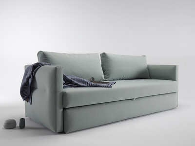 Photo of Innovation Retro Convertible Furniture  Toke Sofa // Black Legs (Coastal Seal Grey) by Touch Of Modern