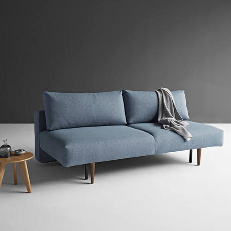 Frode Sofa // Dark Wood (Mixed Dance Light Blue)