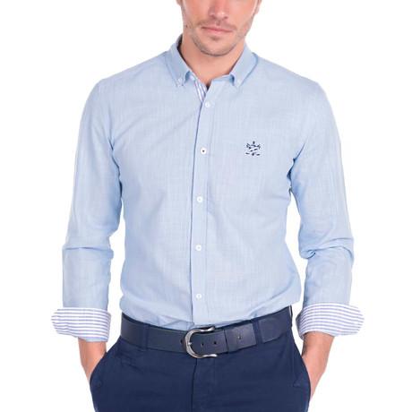 Couch Linen Shirt // Blue (S)