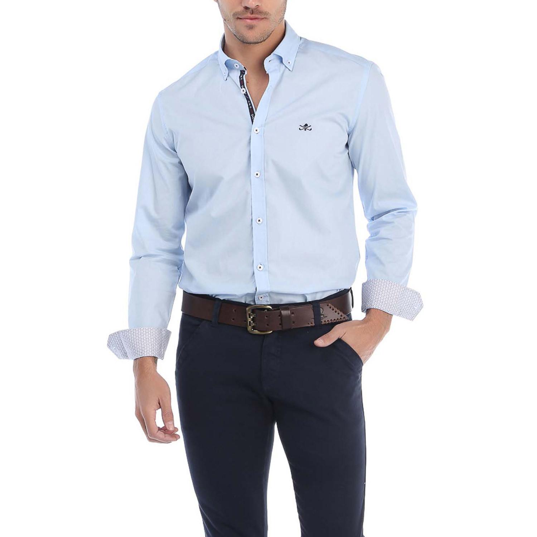 Ambrose dress shirt light blue s sir raymond tailor for Tailor dress shirt cost