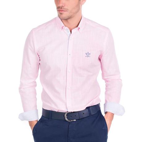 Couch Linen Shirt // Pink (S)