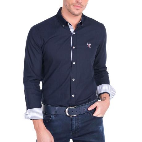 Couch Linen Shirt // Navy (S)