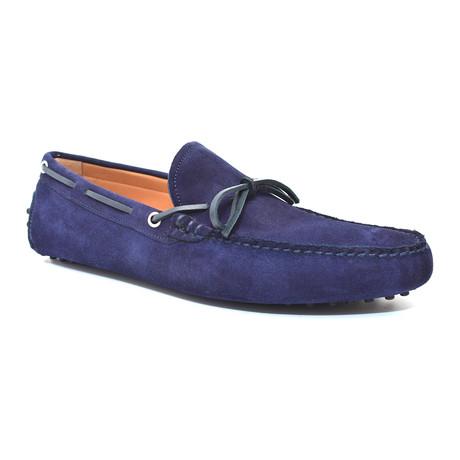 Suede Tie Moccasin // Blue (Euro: 40)