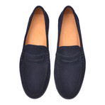 Suede Penny Loafer // Blue (Euro: 46)