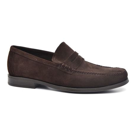 Suede Penny Loafer // Brown