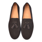 Suede Tassel Loafer // Brown (Euro: 39)
