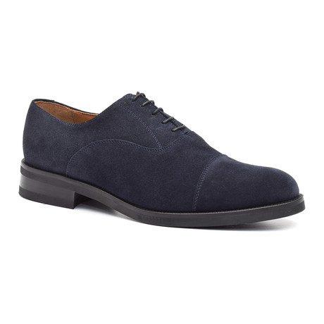 Suede Toe-Cap Oxford // Blue