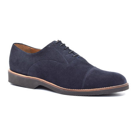Suede Lace-Up Oxford // Blue