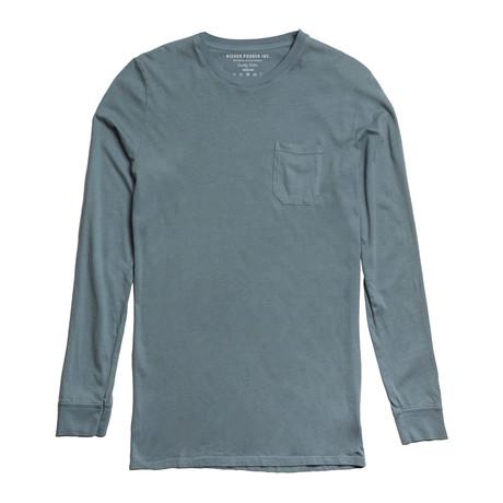 Long-Sleeve Crew T-Shirt // Light Blue