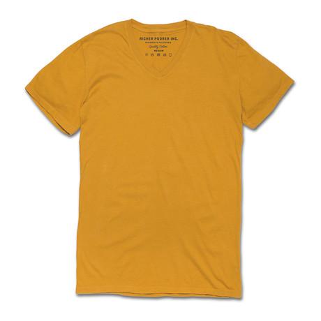 V Neck T-Shirt // Mustard