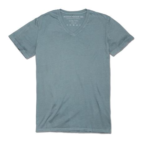 V Neck T-Shirt // Light Blue
