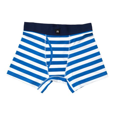 Theo Boxer-Brief // Blue + White
