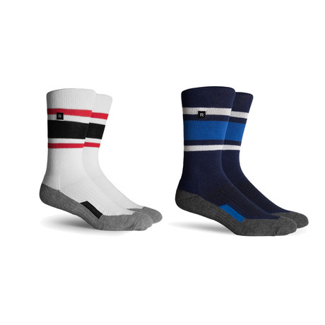 Athletic Compression Socks // Heather Grey + Charcoal + Navy // Pack of 2