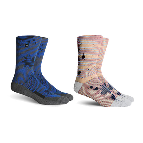 Athletic Socks // White + Charocal + Black // Pack of 2