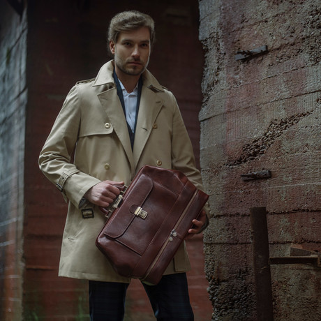 The Master And Margarita // Leather Doctor Bag // Brown