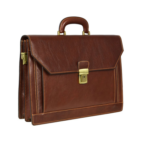 The Good Soldier // Leather Briefcase // Brown