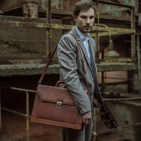 The Good Soldier Briefcase // Brown