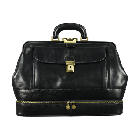The Master and Margarita // Leather Doctor Bag // Black