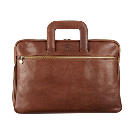 Brave New World Laptop Bag // Brown