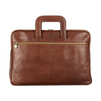 Brave New World // Leather Briefcase // Brown