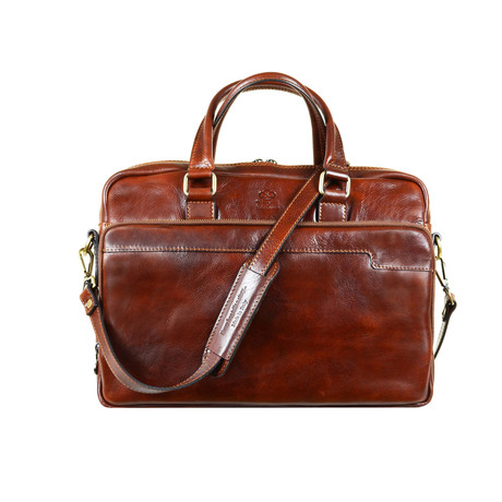 Orlando Laptop Bag // Brown