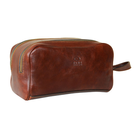 All The Kings Men // Leather Cosmetic Bag // Brown