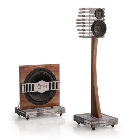 TÔMEI Loudspeaker System // Smoke Grey + Brown