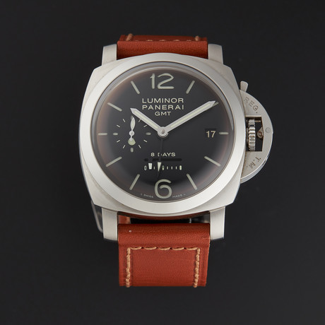 Panerai Luminor 1950 GMT 8-Day Power Reserve Manual Wind // PAM00233 // Pre-Owned
