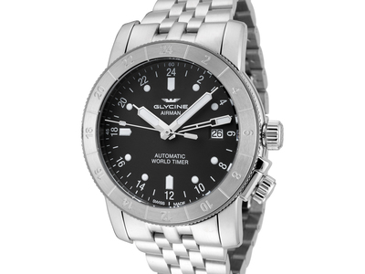 Glycine Up To 80% Off Iconic Military & Aviation Watches Glycine Airman 42 Gmt Automatic // 3954.101.mb