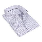Snowflake Button-Up Shirt // Black + White (S)