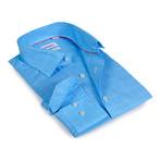Tonal Plaid Button-Up Shirt // Sky Blue (S)