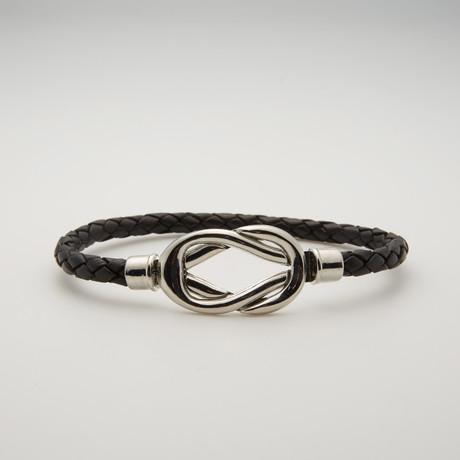 Infinity Bracelet // Black + Silver