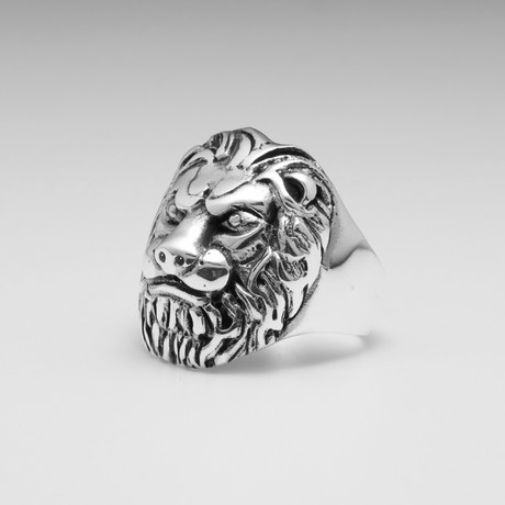 Sterling Silver Lions Kingdom Ring // Silver
