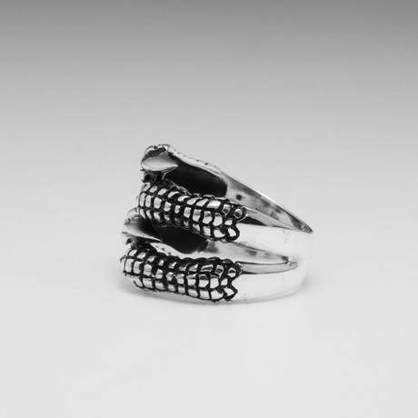 Sterling Silver Interlocked Claw Ring // Silver