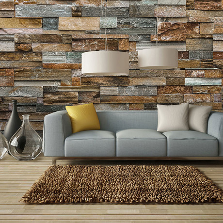 Colorful Stone Wall