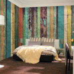 Colored Wooden Wall