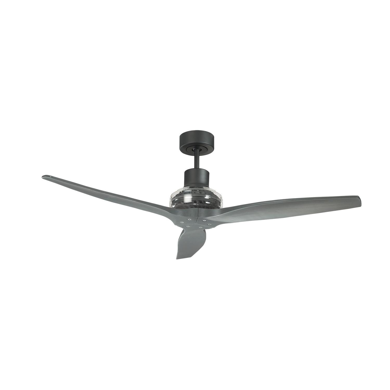 Propeller Ceiling Fan White : Star propeller ceiling fan black motor white blade