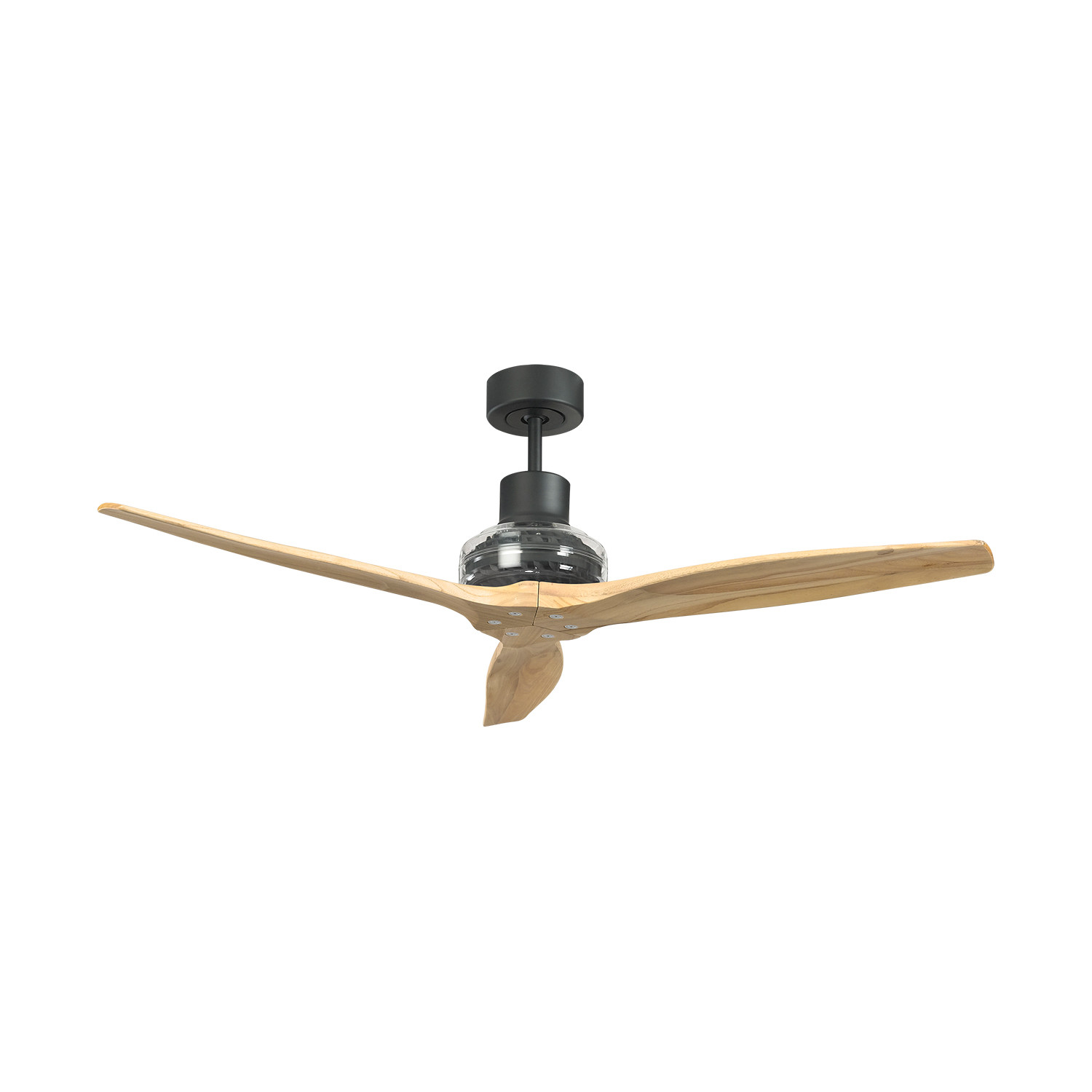 Star propeller ceiling fan black motor white blade star fans touch of modern - Ceiling fan propeller blades ...