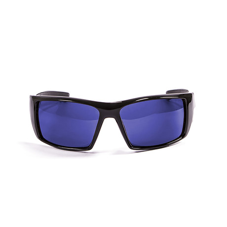 Aruba // Glossy Black Frame + Blue Lens
