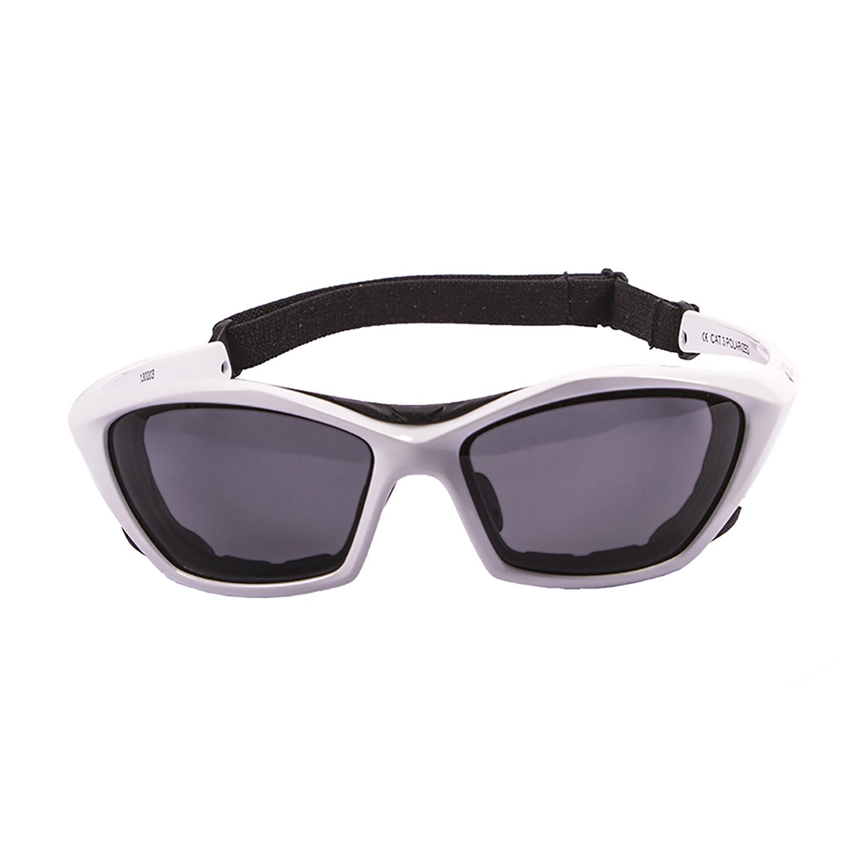 Lake garda glossy white frame smoke lens ocean sunglasses touch of modern - Ocean sunglasses ...