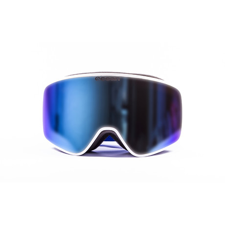 Aspen // White Frame + Blue Lens