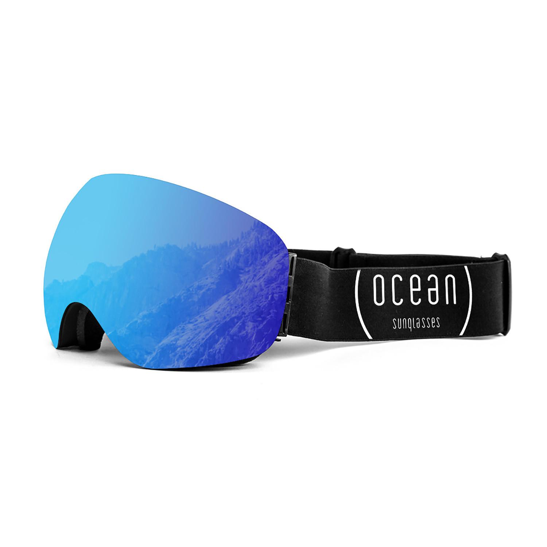Arlberg black frame blue lens ocean sunglasses touch of modern - Ocean sunglasses ...