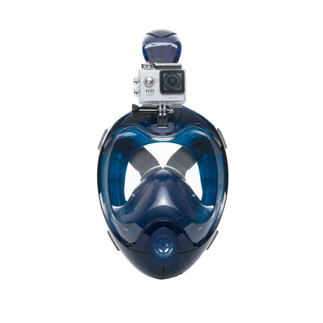 Full Face Snorkel Mask // GoPro 2.0 Edition // Blue