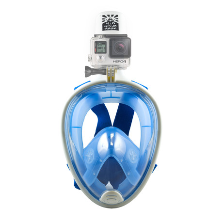 Full Face Snorkel Mask // GoPro Edition // Blue