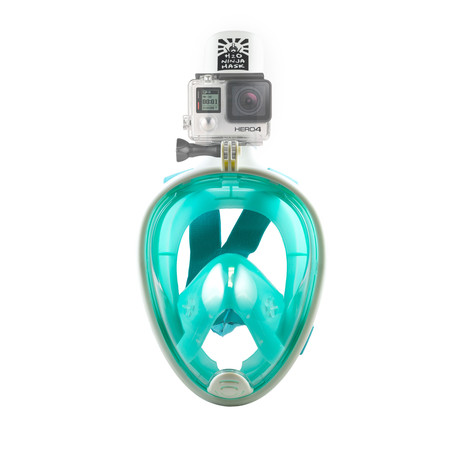 Full Face Snorkel Mask // GoPro Edition // Green