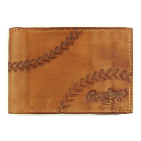 Line Drive Front Pocket Wallet // Tan