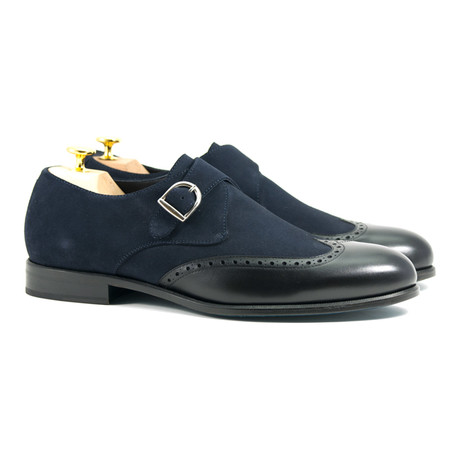 Single Monk // Navy + Black (US: 6)
